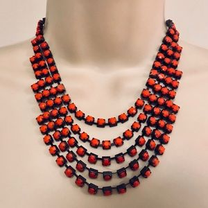 Jewelry - Neon Pink/Coral Layered Statement Necklace